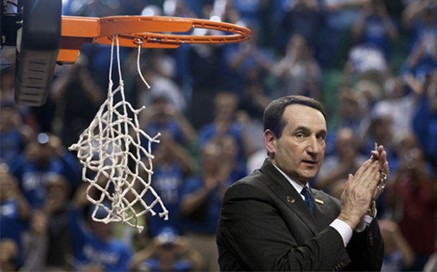 Mike Krzyzewski, entrenador de Duke./Getty
