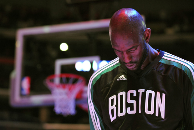 Kevin Garnett, ala-pívot de Boston Celtics./ Getty Images