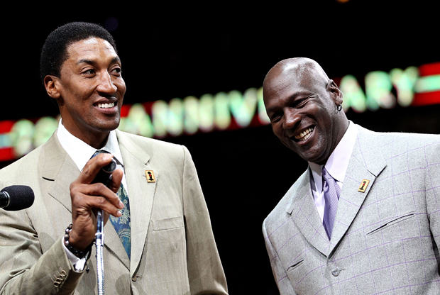 Scottie Pippen y Michael Jordan./ Getty Images
