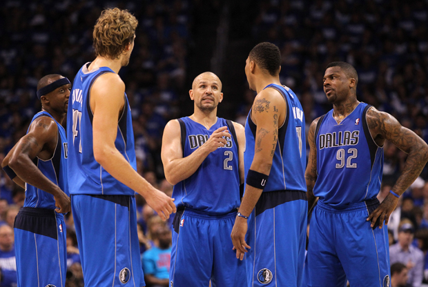 Jason Kidd, Jason Terry, Dirk Nowitzki, Shawn Marion y DeShawn Stevenson (Dallas Mavericks)./ Getty Images