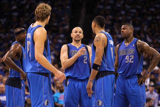 Jason Kidd, Jason Terry, Dirk Nowitzki, Shawn Marion y DeShawn Stevenson (Dallas Mavericks)./ Getty Images