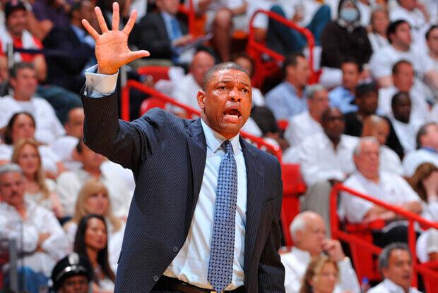 Doc Rivers, entrenador de Boston Celtics. / Getty Images