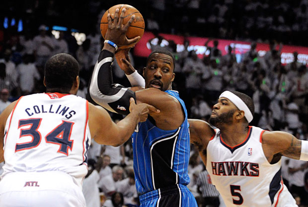 Dwight Howard, pívot de los Magic, en un partido ante los Hawks
