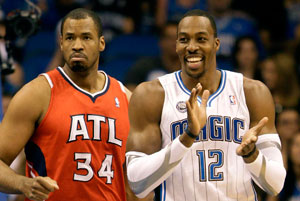 Dwight Howard, pívot de los Magic de Orlando, durante un partido de playoffs