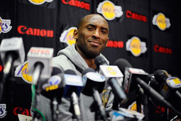 Kobe Bryant en rueda de Prensa. / Getty Images