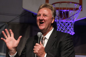 Larry Bird, presidente de los Pacers de Indiana. / Getty Images