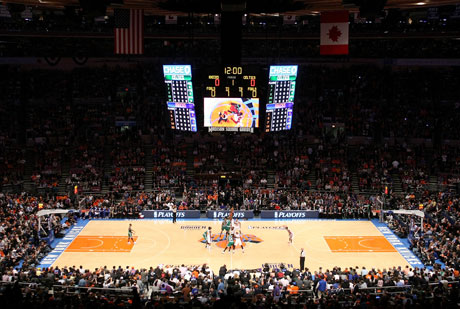 Vista general del Madison Square Garden de Nueva York, la mítica cancha de los Knicks./Getty Images
