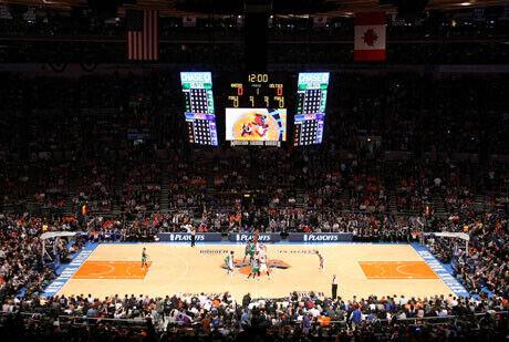 Vista general del Madison Square Garden de Nueva York, la mítica cancha de los Knicks./Getty Images