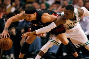 Rajon Rondo, de los Celtics, uno de los integrantes del primer equipo defensivo