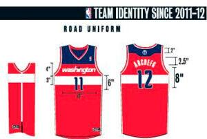 Diseño de la nueva equipación de los Wizards para la próxima campaña