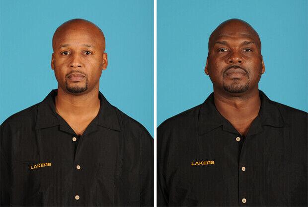 Brian Shaw y Chuck Person, asistentes de Los Angeles Lakers./ Getty Images