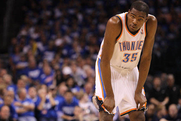 Kevin Durant, estrella de los Thunder de Oklahoma City./Getty Images