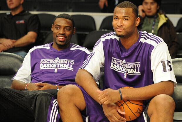 Tyreke Evans y DeMarcus Cousins (Sacramento Kings)./ Getty Images