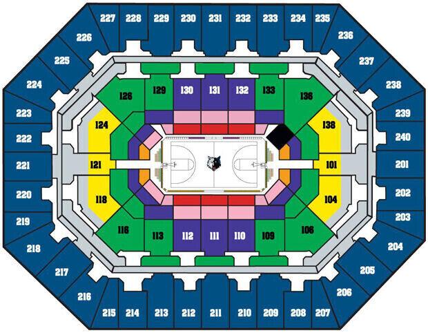 Venta de entradas para el Target Center, estadio de Minnesota Timberwolves
