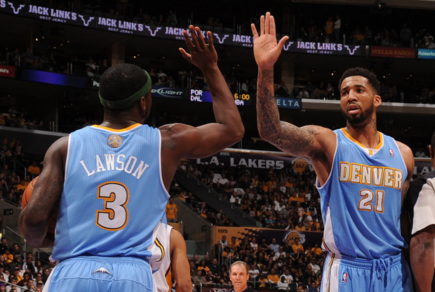 Ty Lawson y Wilson Chandler (Denver Nuggets)./ Getty Images