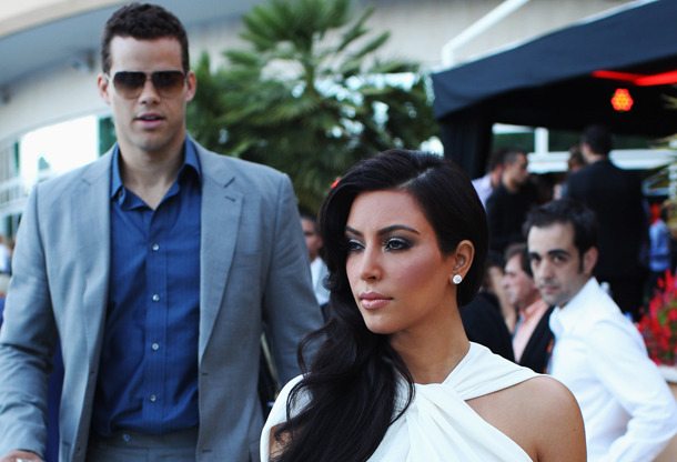 Kim Kardashian y Kris Humphries (New Jersey Nets)./ Getty Images