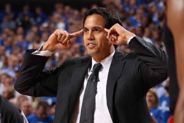 Erik Spoelstra, entrenador de Miami Heat./ Getty Images