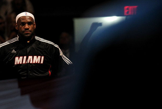 LeBron James (Miami Heat)./ Getty Images