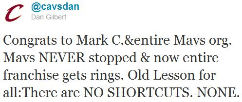 Twitter de Dan Gilbert, dueño de Cleveland Cavaliers