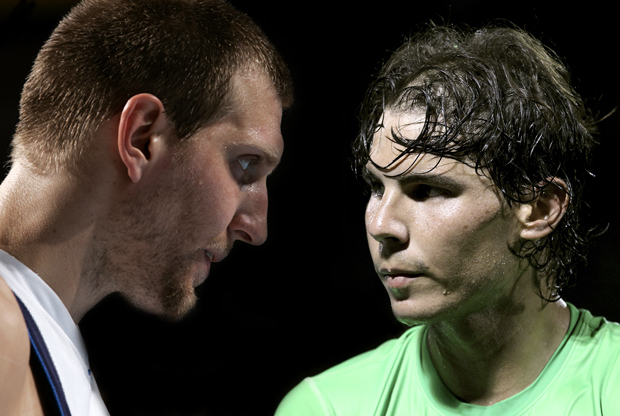 Dirk Nowitzki y Rafael Nadal./ Getty Images