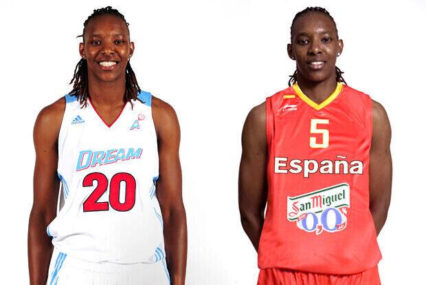 Sancho Little, con la camiseta de las Dream y de España./Getty y FEB
