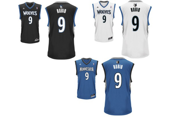 Equipaciones de Ricky Rubio (Minnesota Timberwolves)