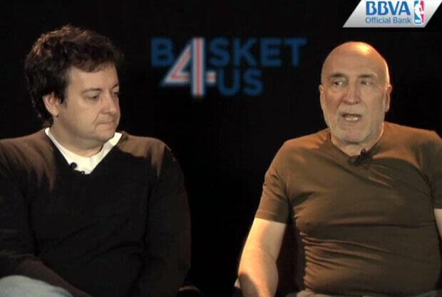 Ramón Trecet y Antoni Daimiel, en la redacción de basket4us.com