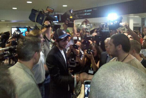 Ricky Rubio rodeado de la prensa nacional de EE.UU.