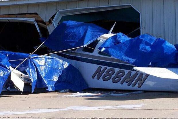 Accidente de avioneta de Austin Hatch./ Detroit Free Press