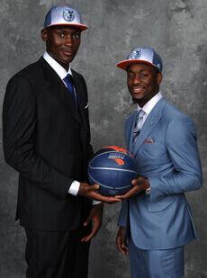 Biyombo y Walker, pareja para los Bobcats./Getty