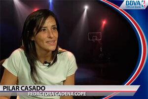 Pilar Casado, la voz del baloncesto en la cadena COPE