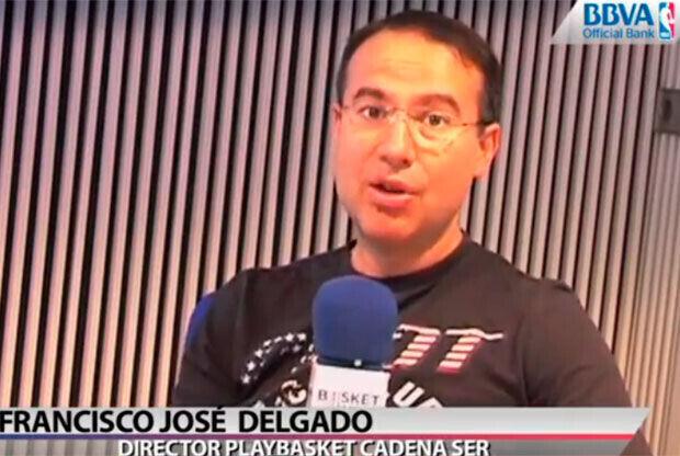 Pacojo Delgado, director de Play Basket de la Cadena Ser./Getty