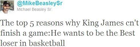 Twitter del padre de Michael Beasley