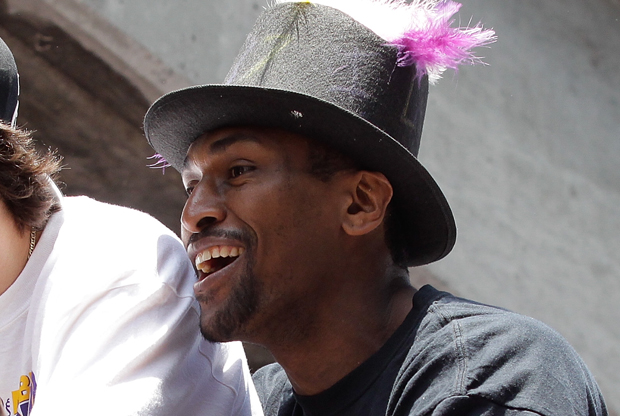 Ron Artest en Los Angeles Lakers Victory Parade./ Getty Images