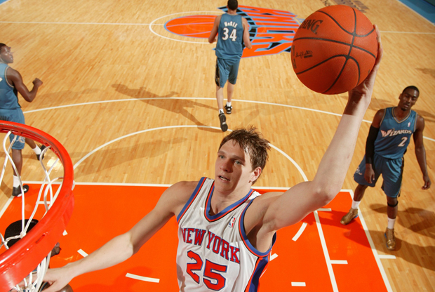 Timofey Mozgov en New York Knicks./ Getty Images
