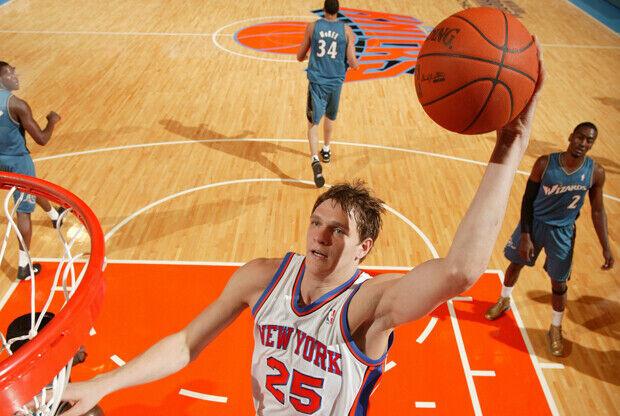 Timofey Mozgov en New York Knicks./ Getty Images