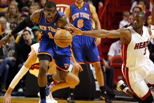 Dwyane Wade (Miami Heat) y Amar'e Stoudemire (New York Knicks)./ Getty Images