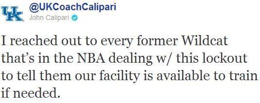 Twitter de John Calipari