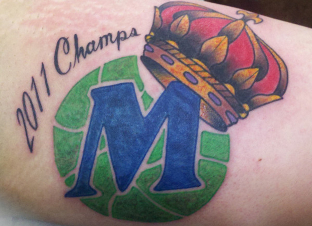 Tatuaje de Dallas Mavericks