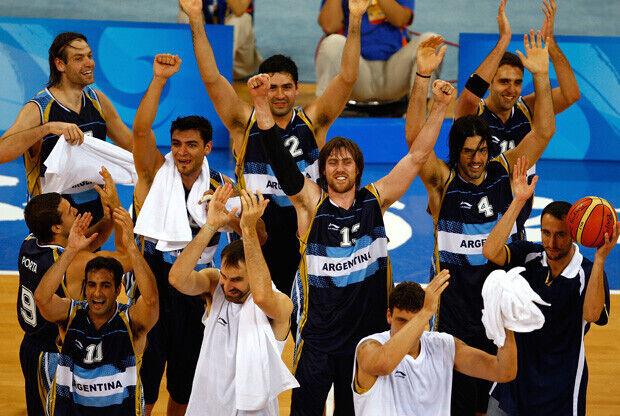 La selección argentina, durante los Juegos Olímpicos de Beijing 2008./Getty