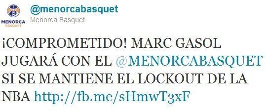 Twitter de Menorca Basquet