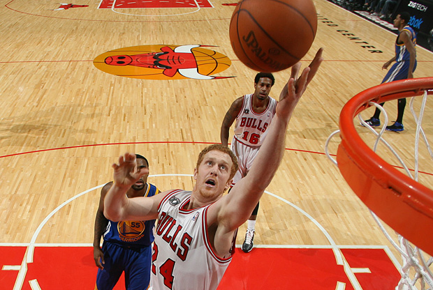 Brian Scalabrine, jugador de los Bulls de Chicago./Getty