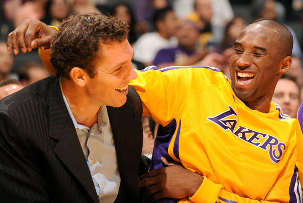 Luke Walton junto a Kobe Bryant (Los Angeles Lakers)./ Getty Images