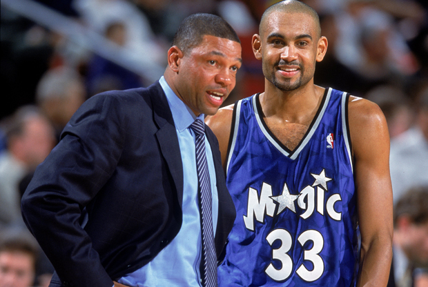 Grant Hill y Doc Rivers durante su etapa en los Orlando Magic./ Getty Images