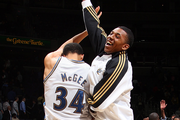 Nick Young y JaVale McGee (Washington Wizards)./ Getty Images