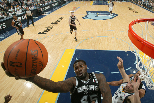 DeJuan Blair, jugador de los Spurs de San Antonio./Getty