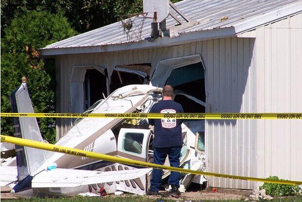 Imágen del accidente aéreo de Austin Hatch