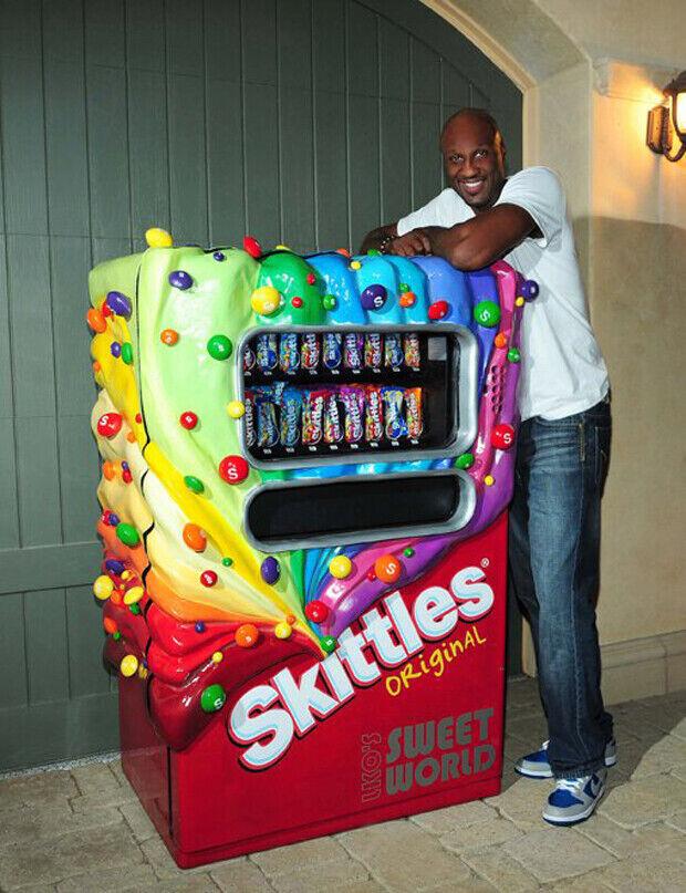 Lamar Odom y su máquina de Skittles