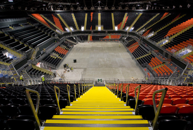 Imagen interior del Basketball Arena de Londres./Getty