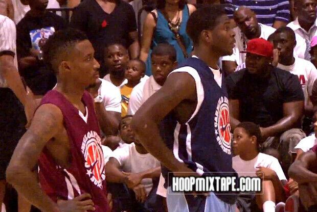 Brandon Jeninngs (Milwaukee Bucks) y Josh Selby (Memphis Grizzlies)./ HoopsMixTape